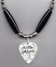 Keith Urban White Pearl Guitar Pick Necklace - 2013 Light the Fuse Tour