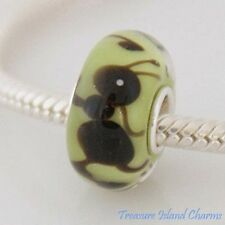 ANT INSECT LAMPWORK MURANO GLASS .925 Sterling Silver EUROPEAN Bead Charm