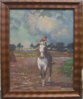 Cavaliere da Cavalli Muffa Antico Hiq Dietz Autografato Sportreiten Ritratto