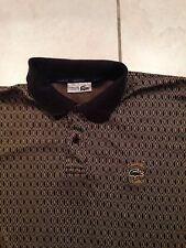 Men's Lacoste Chemise Club Polo Button Shirt 1 3 Gator Croc Designer France Vtg