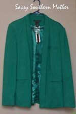 Grace Elements Ponte Knit Blazer, jacket, Green, XL, Extra Large, rayon, nylon,
