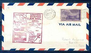 1950 6 Mar:, FIRST FLIGHT HOUSTON TEXAS TO ASUNCION, PARAGUAY