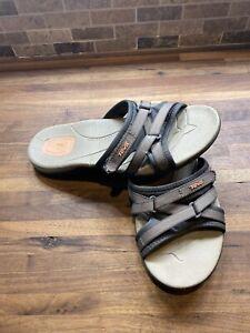 TEVA Tirra Slide Slip On Sandals 1003990 Gray / Brown Women's Size 6