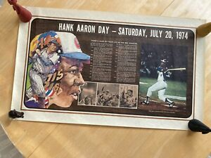 Hank Aaron Day - July 20, 1974 Poster - Very Good Condition