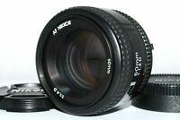 Excellent+++++ Nikon AF NIKKOR 50mm f/1.4 D Standard Portrait Lens w/ Cap Japan