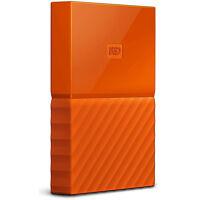 Western Digital WD 3TB My Passport Portable Hard Drive - Orange