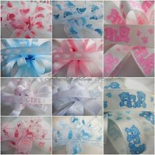 2Mtrs, Lengths of Baby Ribbon 10 Designs 10mm, 15mm 16mm Grosgrain and  Organza