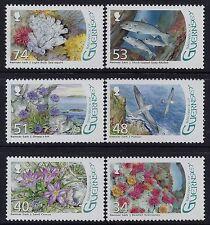 2008 GUERNSEY BIRDS-FLOWERS-FISH SET OF 6 FINE MINT MNH/MUH