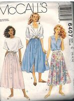6407 Vintage McCalls Sewing Pattern Misses Set of Front Buttoned Skirts OOP SEW