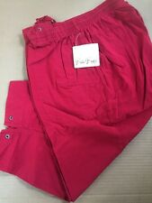 Bobbie Brooks Women's Solid China Red Capri Pants Size 18W/20W - NWT