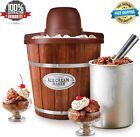 Electric Wooden Ice Cream Bucket Maker Home Frozen Yogurt Sorbet Gelato Machine
