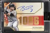 MLB Card 2020 Buster Posey Topps Luminaries Hit Kings Auto Red Parallel 7/10