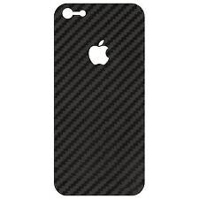 3D adesivo nero fibra di carbonio per Apple iPhone 5 5S effetto texture vinile