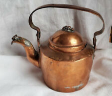 Vintage Copper Tea Pot Retro Antique Collectable Rare Unique Kitchen Find