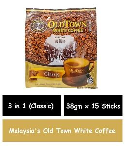 Malaysia's Old Town White Coffee 3 in 1 Classic (38gm x 15 Sticks)