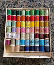 New ListingVintage J.P Coats Drima spools spun threads box lot Sewing wood Nos