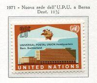 19098) UNITED NATIONS (New York) 1971 MNH** Nuovi** UPU
