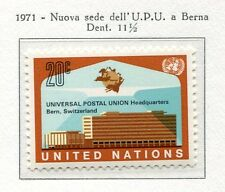 19098) UNITED NATIONS (New York) 1971 MNH** Nuovi** UPU