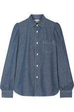 JUNYA WATANABE Cotton Puffed Sleeve Chambray Denim Shirt