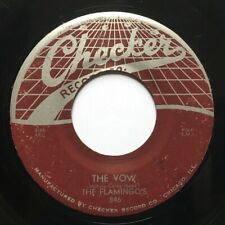 "The Flamingos The Vow / Shilly Dilly Checker 846 Original 1956 45 7"" Doo-Wop"