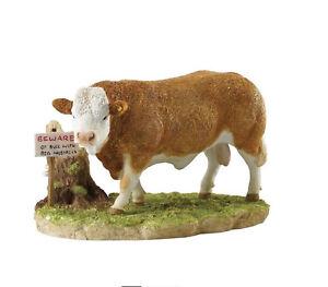 Kitchy & Co Beware of the Bull Figurine Border Fine Arts