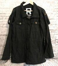 Roxy Military Utility Anorak Jacket Vintage Wash Black Size XL