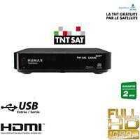 HUMAX Décodeur satellite TNTSAT pour chaines françaises HD + Carte TNT SAT Astra