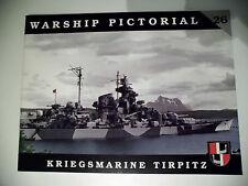 Warship Pictorial No.26 - Kriegsmarine Tierpitz  Sammelband T O P !!!!