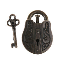 Vintage Metal Cast God Lock Key Puzzle Toy IQ&EQ Mind Brain Teaser Kid Gift FT