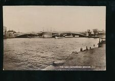 Oxfordshire Oxon New CAVERSHAM Bridge Queen of the Thames steamer c1930s? RP PPC