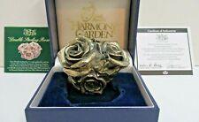 ": Harmony Kingdom ""Double Sterling Rose"" Hgledsr 1998 ""Ltd Ed #:500 /1500"" Coa"