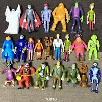 "Random 3x Scooby-Doo Villains Fred Daphne Velma Shaggy 5"" Figure 50th Years Toys"
