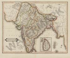 HINDOSTAN INDIA MAP GIANT WALL POSTER ART PRINT LLF0547