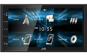"New JVC KW-M150BT 2 DIN 6.75"" Media Player USB Mirroring For Android Bluetooth"