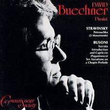 David Buechner - Stravinsky, Busoni  / CD (neu, OVP)