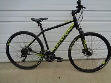 Cannondale Quick CX 3 Medium Black/Yellow 27 speed Dual Sport Hybrid Bike