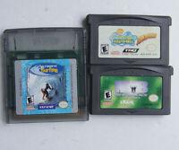 3 games Spongebob Squarepants Supersponge & Surfing & MIB GBA
