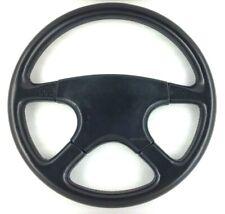 Genuine Momo Ghibli 4 spoke, 380mm black leather steering wheel and horn pad. 7A