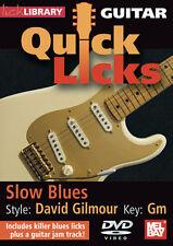 PINK FLOYD DAVID GILMOUR SLOW BLUES GUITAR LESSON DVD
