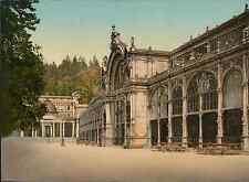 Böhmen. Marienbad. Kreuzbrunnenkolonnade. PZ vintage photochromie, photochrom