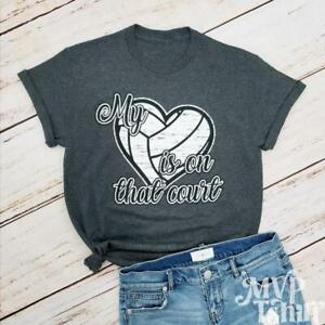 Volleyball My Heart is on That Court Shirt