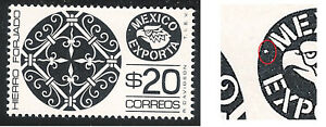 uad15 Mexico Exporta plate error MNH paper1 position 18,19,20,27 ex1_13