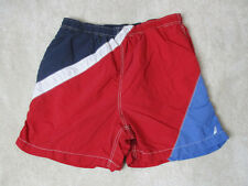 VINTAGE Nautica Swim Trunks Shorts Adult Large Red Blue Color Block Sailing Mens