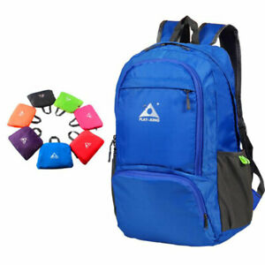 Foldable Unisex Outdoor Travel Hiking Backpack Bag Light Durable Waterproof 25L