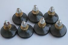 Swedish vintage  mid century furniture glass brass cabinet 7 knobs Miller.