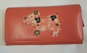 (GRA) Radley Hippie Dog purse in coral with dust bag.