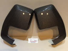 FORD TRANSIT CUSTOM  2012 + WING MIRROR COVER PAIR CARBON FIBRE HYDRO-DIPED