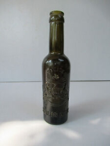 """Antique Gwalior Princely State Liquor Bottle Gwalior Coat Of Arms Embossed """"22"""