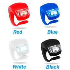 4x Bike Front Light Bike Rear Light Bicycle Cycle Bike Safety Light Silicon red