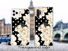 Black & White Floral Polka Design Art Phone Case Cover